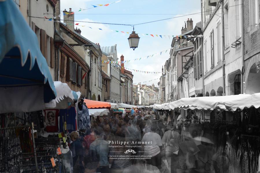 Photo du marché de Louhans en Saône-et-Loire
