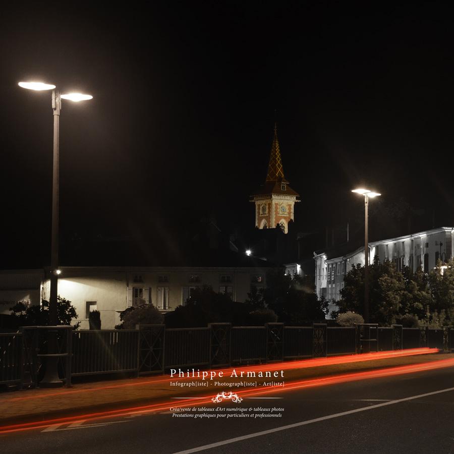 Photo de nuit de Louhans
