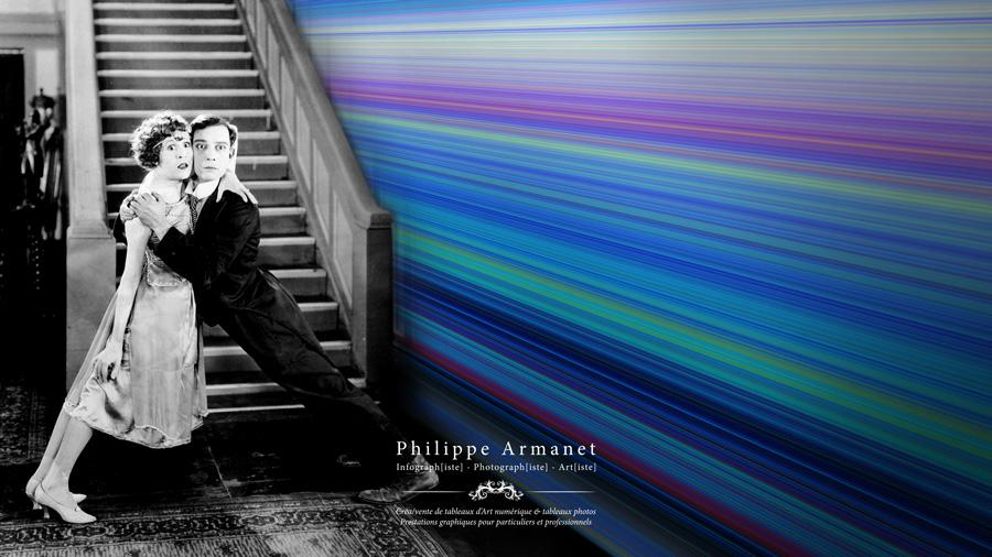 Tableau coloré en format panoramique, Philippe Armanet