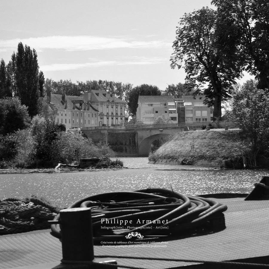Photographie noir et blanc de Chalon-sur-Saône. Tous droits réservés : Philippe Armanet.
