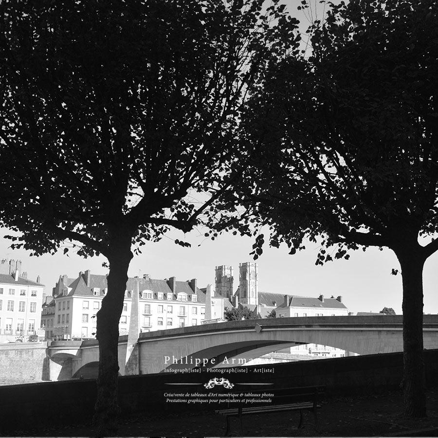 Achat de photographie noir et blanc de Chalon sur Saône