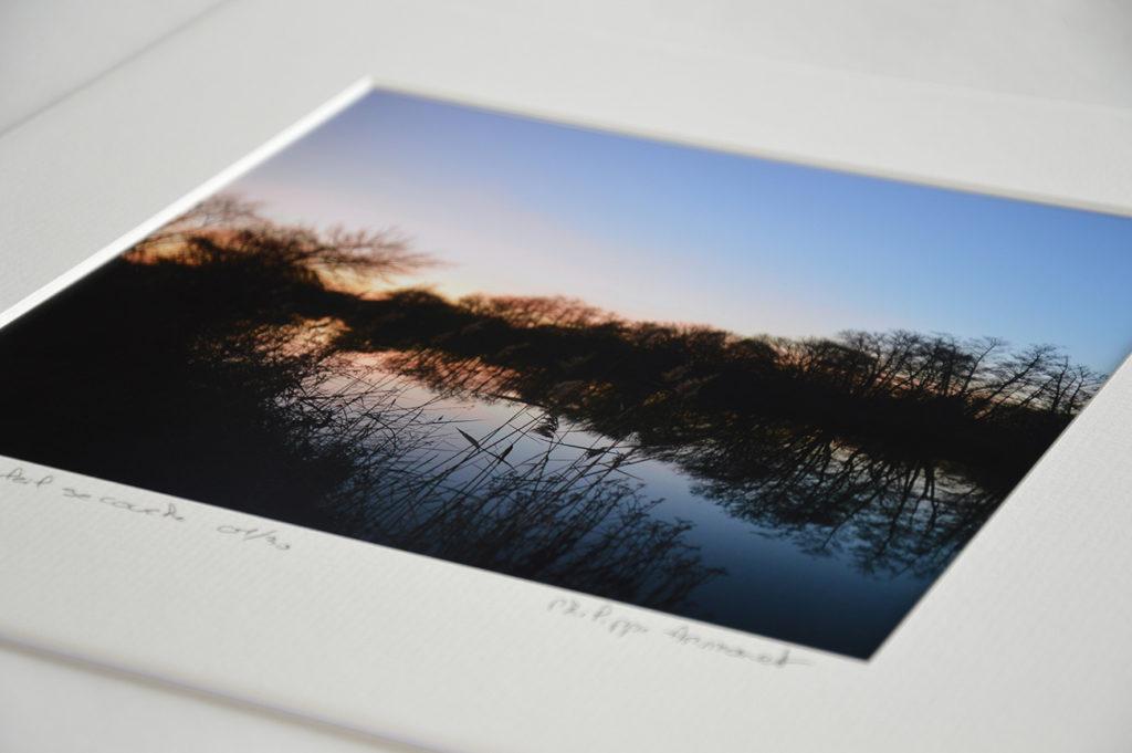 Photo d'un coucher de soleil en tirage limité