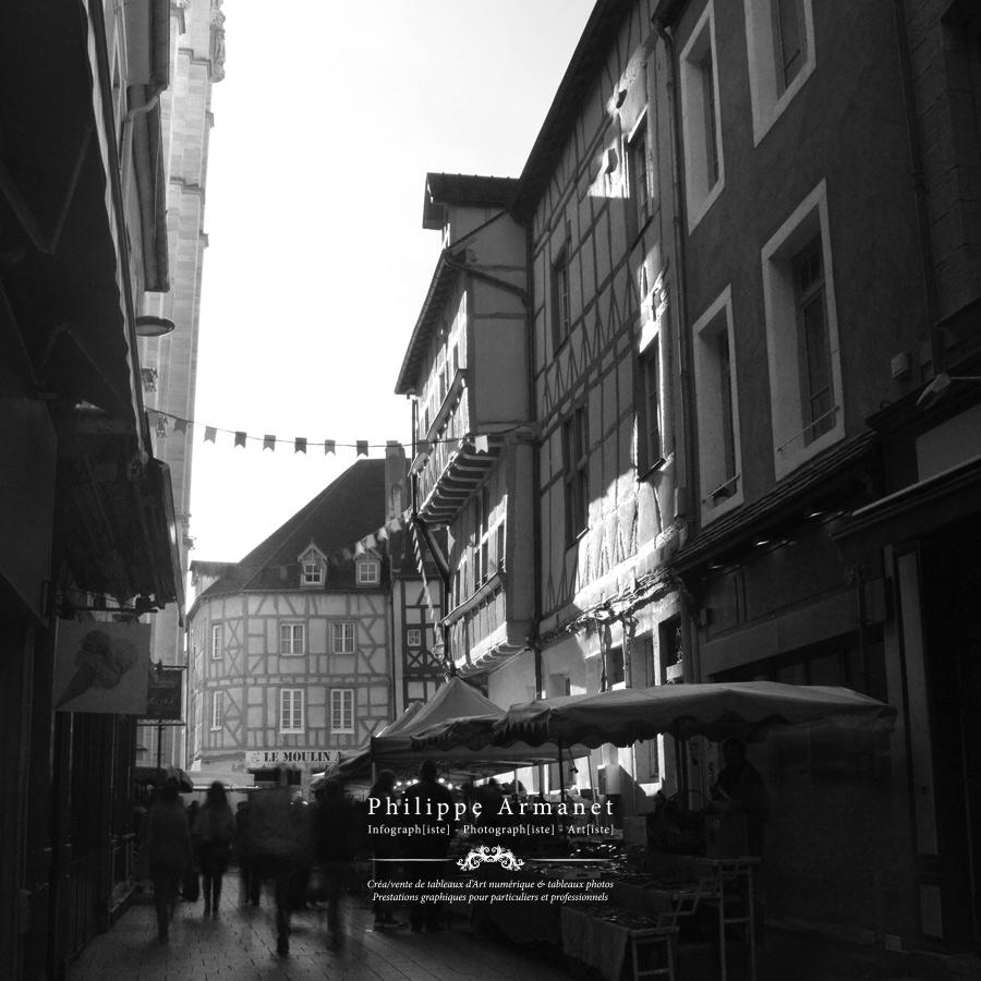 Photographie de la rue aux Fèvres  à Chalon-sur-Saône. Tous droits réservés : Philippe Armanet.