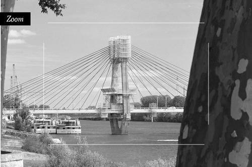 Le pont de Bourgogne en travaux à Chalon-sur-Saône