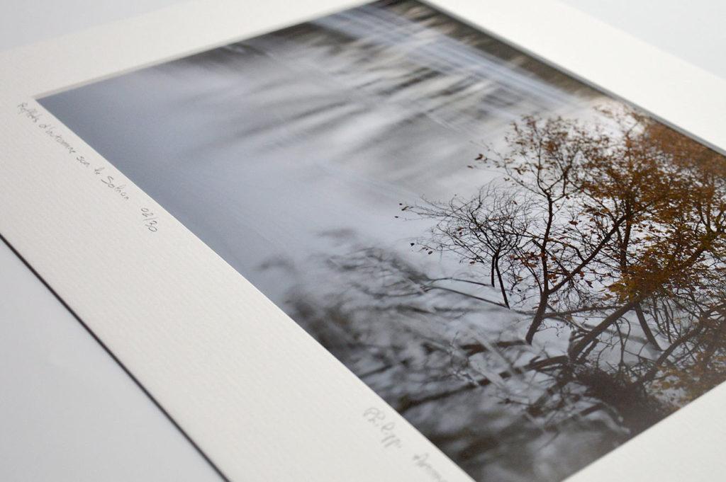 Photo en pose longue de la rivière le Solnan.