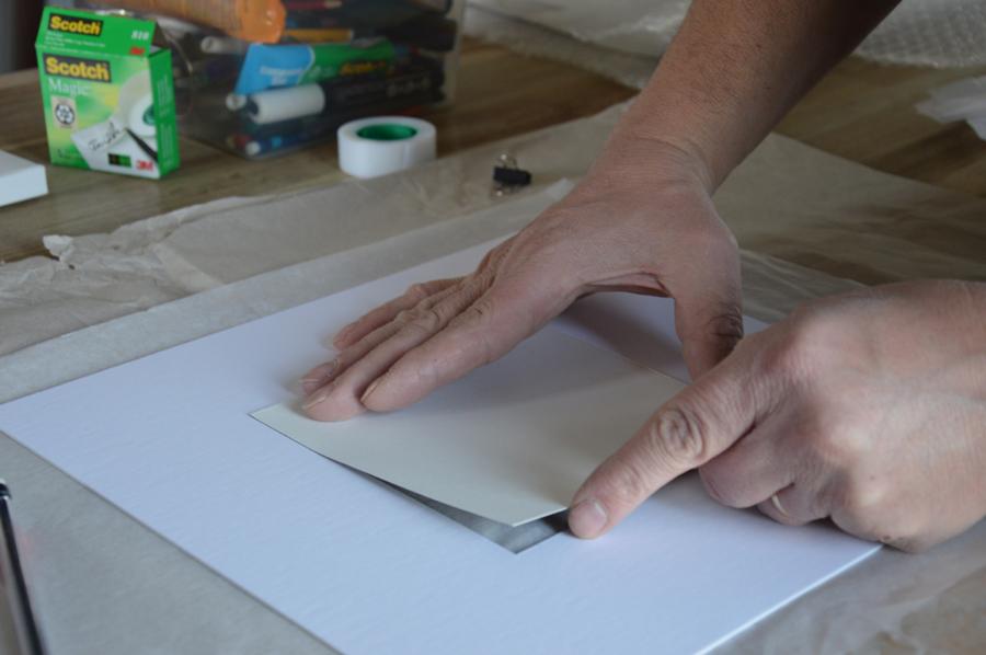 Papier d'art avec passe-partout
