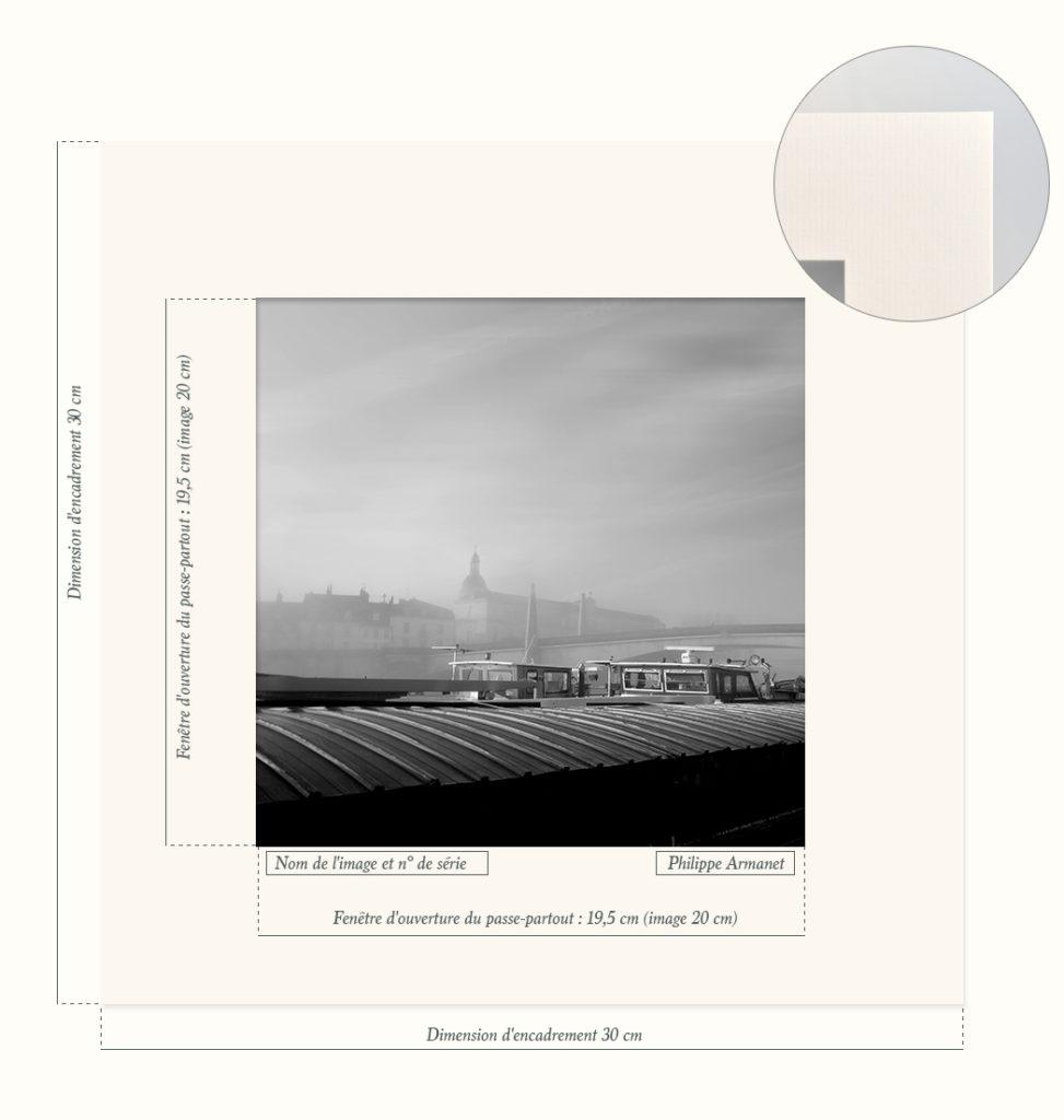 Passe-partout pour photo en noir et blanc. Tous droits réservés : Philippe Armanet