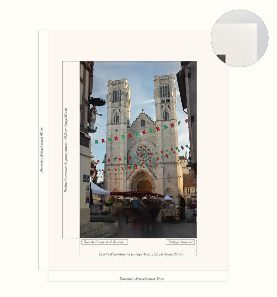 Photo de la Cathédrale Saint-Vincent de Chalon-sur-Saône en tirage limité