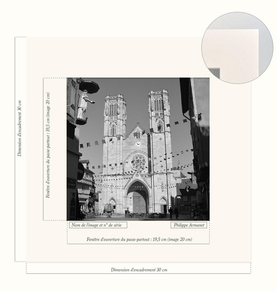 Photographie rare de la Cathédrale Saint-Vincent de Chalon-sur-Saône