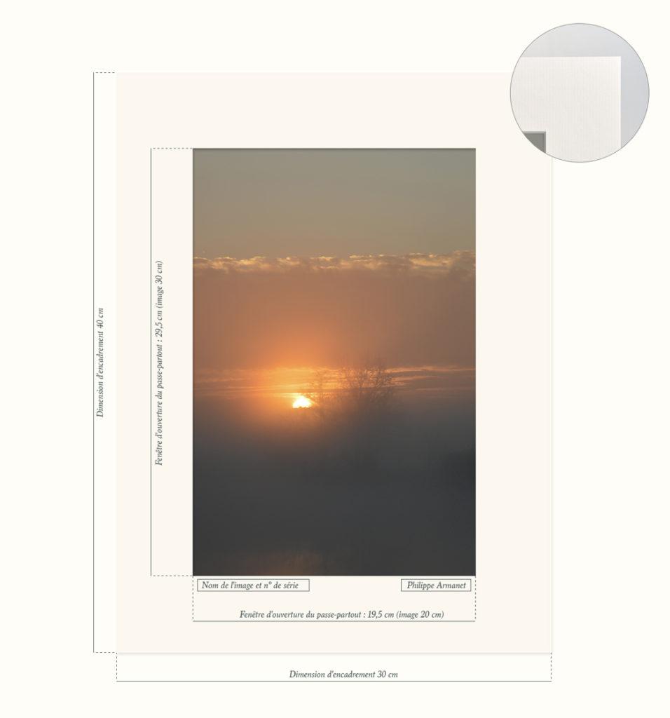 Photo d'un lever de soleil