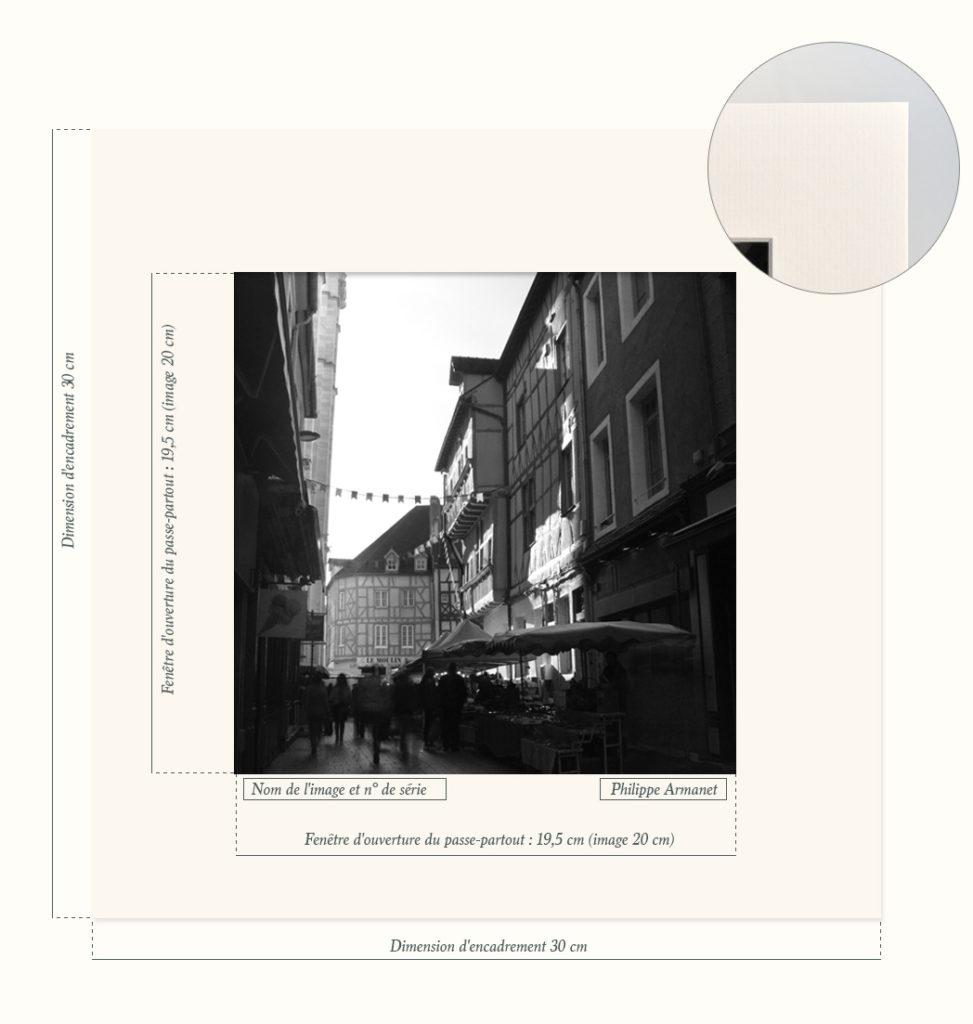 Photo rare en noir et blanc du marché de Chalon-sur-Saône