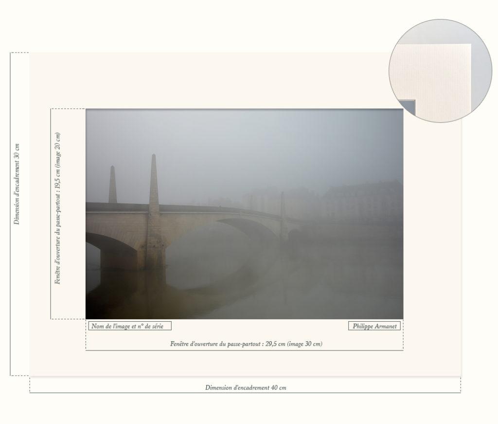 Photo du pont Saint Laurent de Chalon-sur-Saône dans la brume