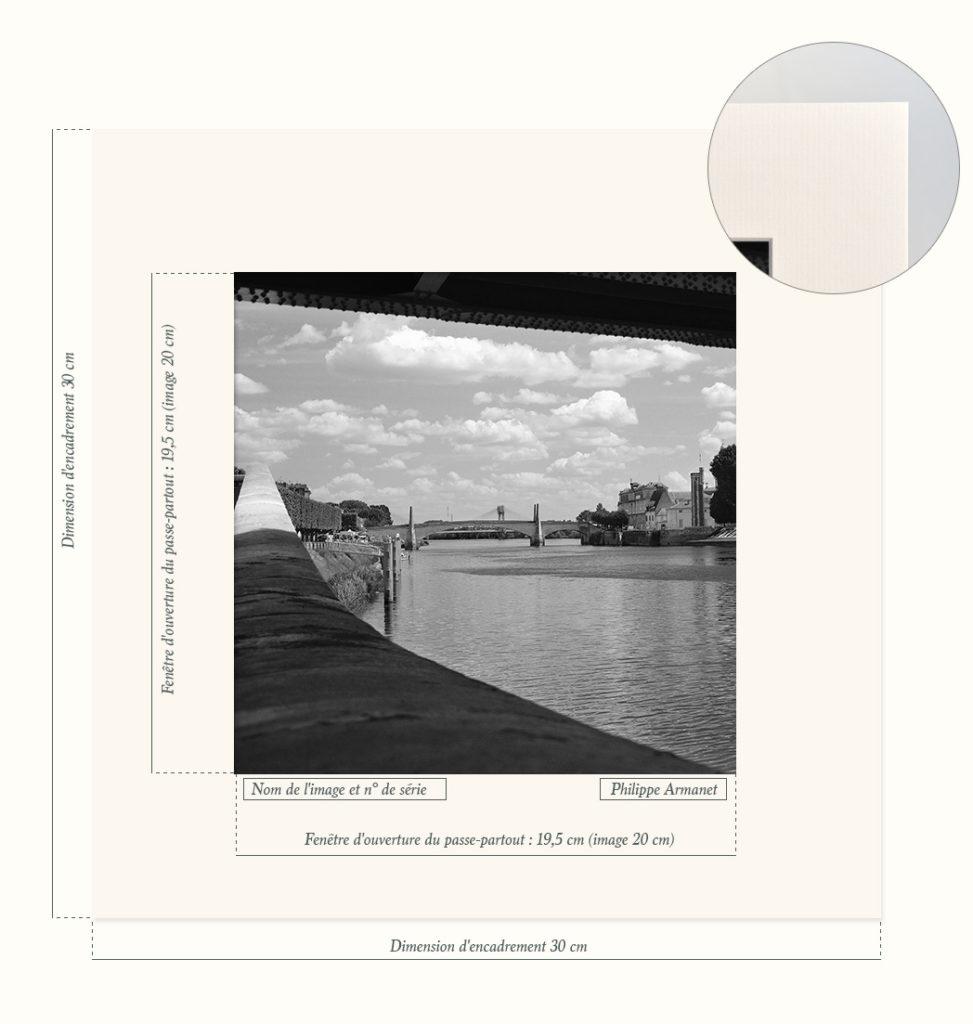 Passe-partout pour photo en édition limitée, Philippe Armanet.