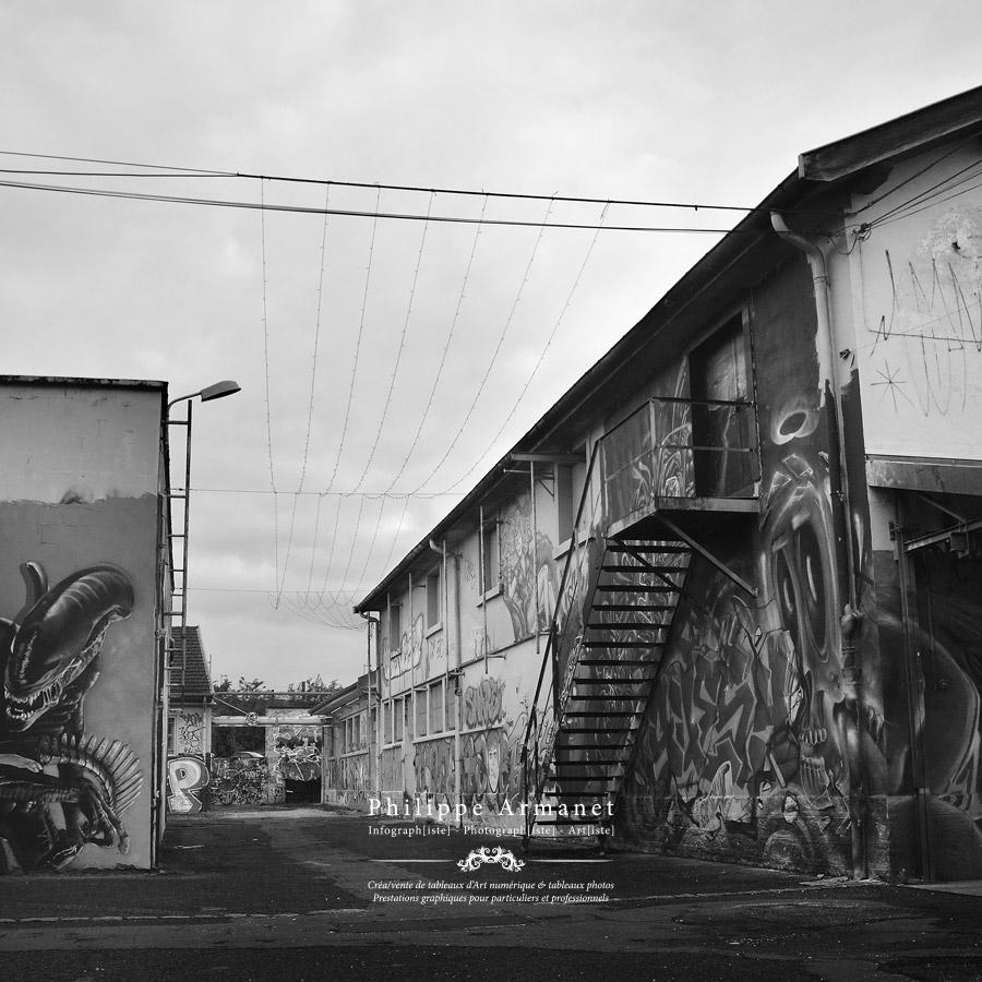 Photographie de l'Abattoir de Chalon-sur-Saône en tirage numéroté.