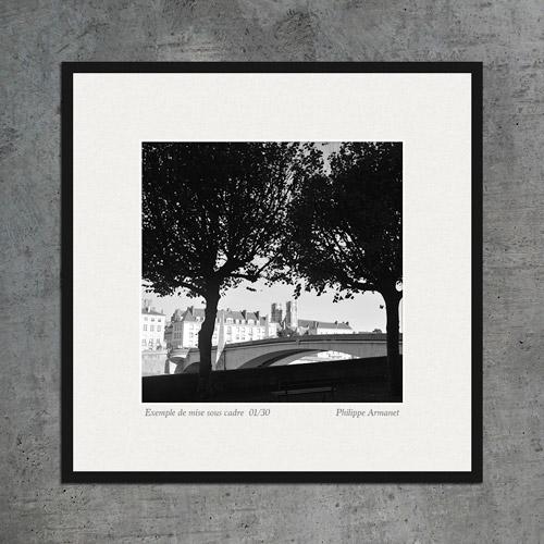 Photo en noir et blanc de Chalon sur Saône