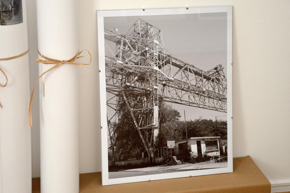Photo en noir et blanc en tirage limité.