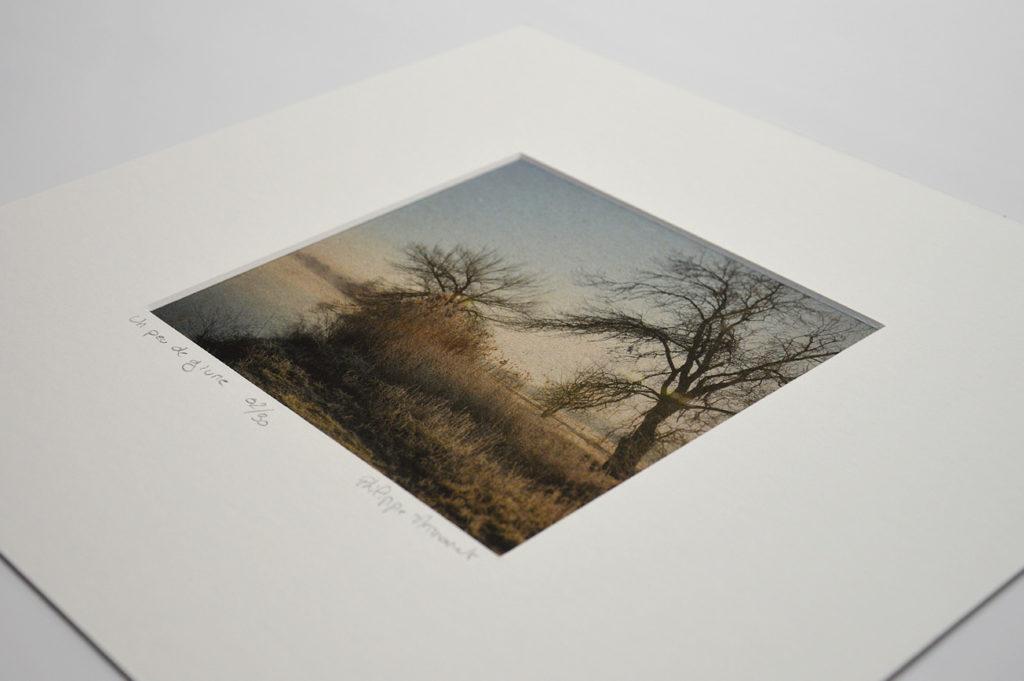 La poésie de l'image, série de photos en tirage limité.