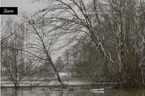 Crue et neige en Saône-et-Loire, tableau d'Art.