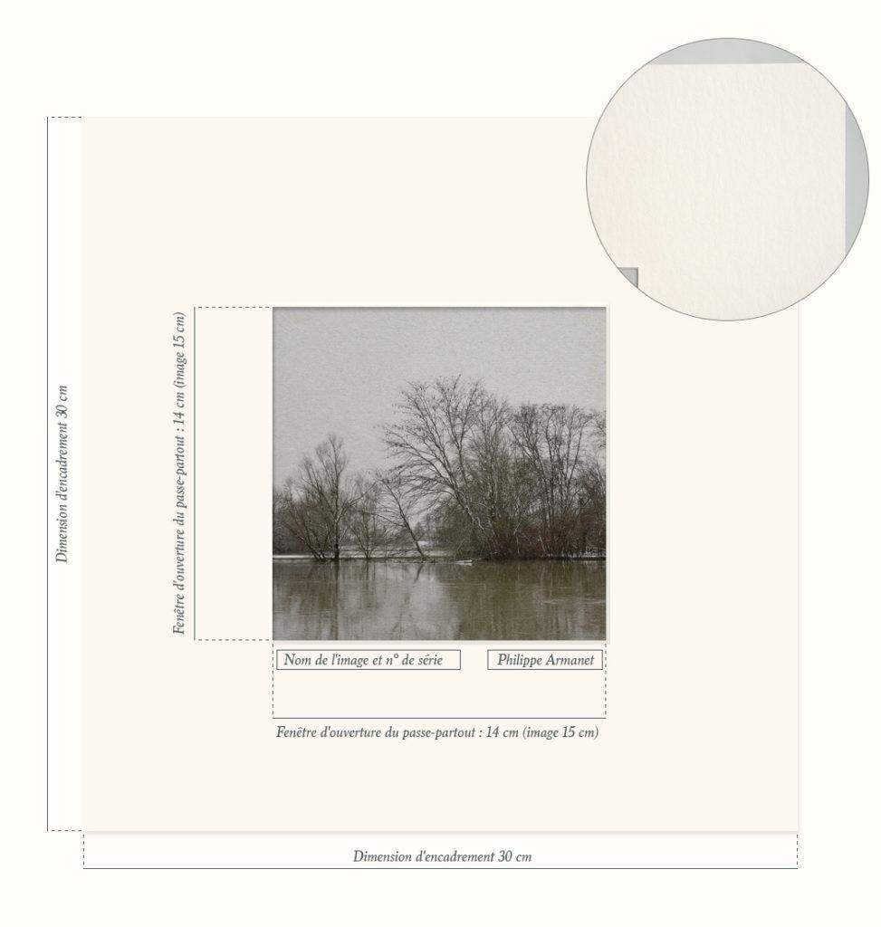 """Crue et neige est issue de la collection """"La poésie de l'image"""" par Philippe Armanet."""
